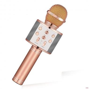 Беспроводной микрофон для караоке Wster WS858 Pink