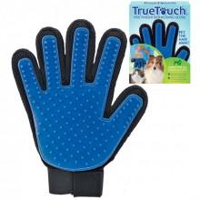 Перчатка для вычесывания шерсти True Touch GTM Черно-синяя