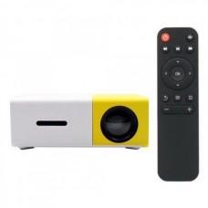 Портативный мини проектор LED Projector GTM YG-300 White/Yellow
