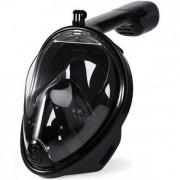 Полнолицевая панорамная маска для плавания GTM FREE BREATH (L/XL) Черная с креплением для камеры
