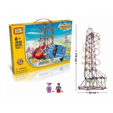 """Электромеханический конструктор LoZ """"Amusement Park Roller Coaster"""" 785 деталей"""