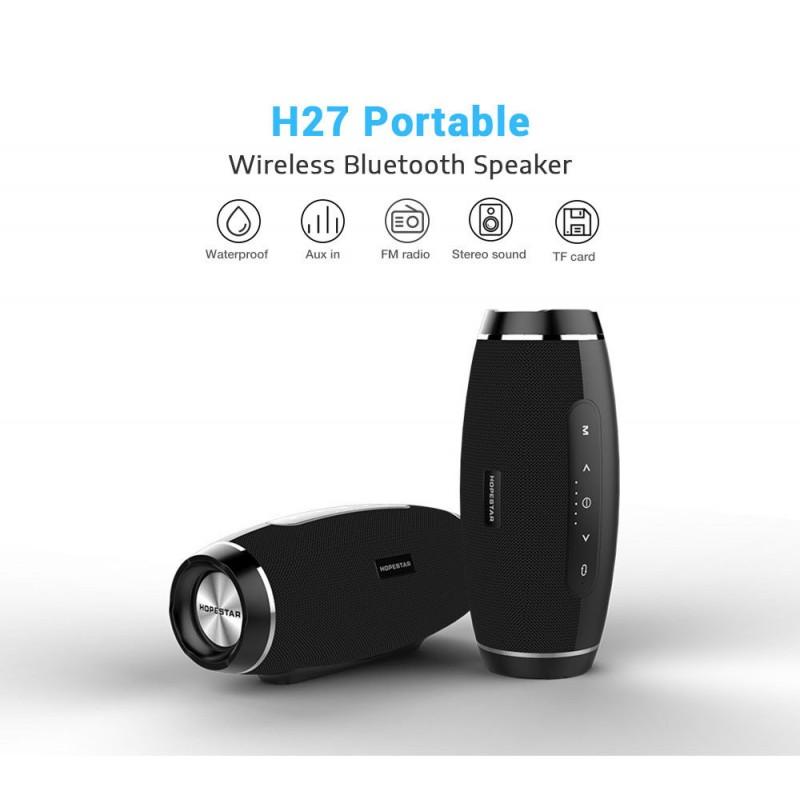 Колонка Портативная Bluetooth Hopestar H27 с влагозащитой Black