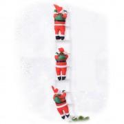Новогодние Фигурки Деда Мороза Shine Santa (Санта Клауса) 3 шт по 30 см на лестнице