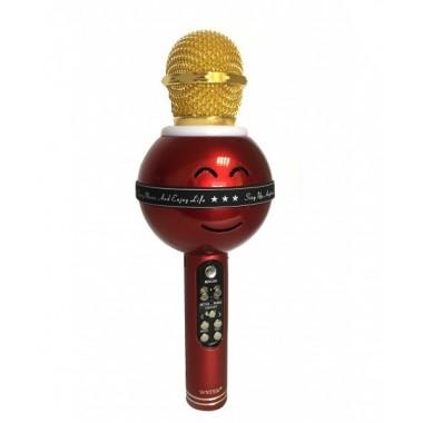 Беспроводной караоке микрофон-колонка Wster WS-878 Original Red
