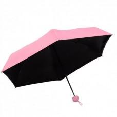 Мини зонт Capsule Umbrella в футляре капсуле розовый
