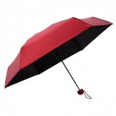 Мини зонт Capsule Umbrella в футляре капсуле красный