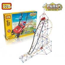 """Электромеханический конструктор LoZ """"Amusement Park Roller Coaster"""" 534 детали"""