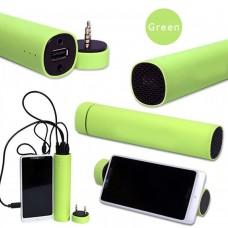 Портативный компактный Powerbank с аудио колонкой Power Jam 3 в 1 Зеленый
