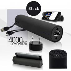 Портативный компактный Powerbank с аудио колонкой Power Jam 3 в 1 Черный