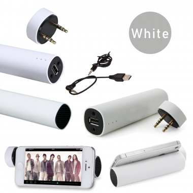 Powerbank, Колонка, Подставка для телефона Power Jam 3 в 1 Белый
